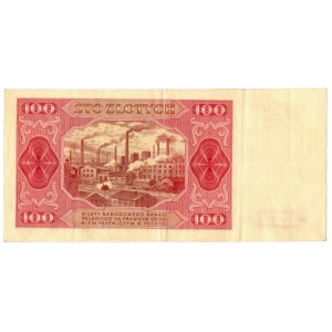 PRL, zestaw 100 złotych 1948 - 2 egzemplarze bez ramki Serie : GT, FZ