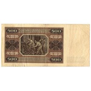 PRL, 500 złotych 1948 - 2 egzemplarze - Serie BP i BI