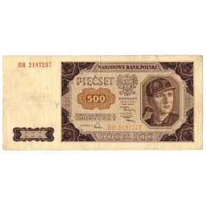 PRL, 500 złotych 1948 - 2 egzemplarze - Serie BH i BG