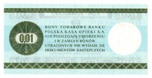 Pewex, Bon Towarowy, 1 cent 1979 - HL - Rewelacyjny !