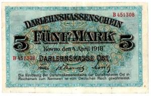 Ober Ost, 5 marek Kowno 1918
