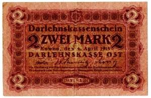 Ober Ost, 2 marki Kowno 1918