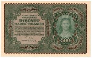 II Rzeczpospolita, 500 marek polskich 1919 I SERJA BG