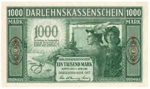 Ober Ost, 1000 marek Kowno 1918