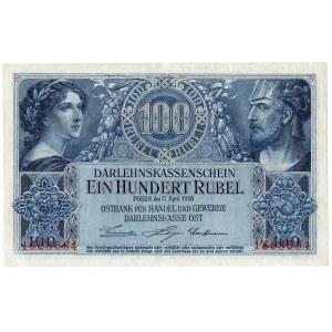 Ober-Ost, 100 rubli 1916, Poznań