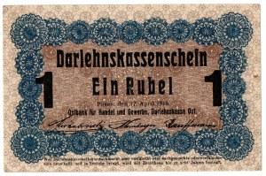 Ober-Ost, 1 rubel 1916, Poznań