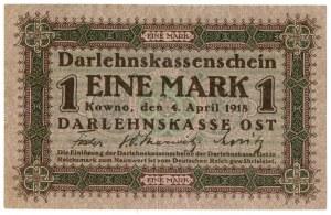 Ober Ost, 1 marka Kowno 1918