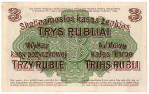 Ober-Ost, 3 ruble 1916, Poznań