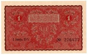 II Rzeczpospolita, 1 marka polska 1919 I SERIA DV