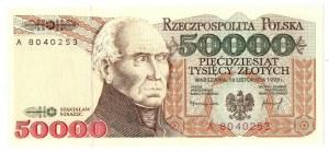PRL, 50000 złotych 1993 A