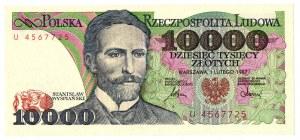 PRL 10 000 złotych 1987 U