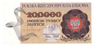 PRL, 200.000 złotych 1989 D