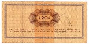 PKO, 20 dolarów 1969