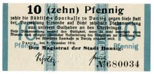 Gdańsk 10 fenigów 1916