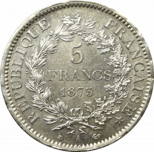Francja, 5 franków 1873
