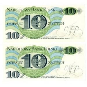PRL, 10 złotych 1982 - 2 egzemplarze - Seria A