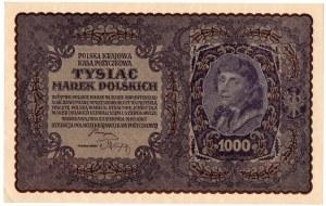 II RP, 1000 marek polskich 1919 II SERJA BL