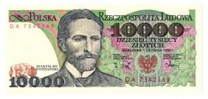 PRL, 10 000 złotych 1988 DA