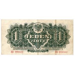 PRL, 1 złoty 1944 XE - obowiązkowym