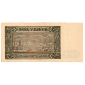 PRL, 2 złote 1948 - zestaw 2 egzemplarze - seria BR i BF