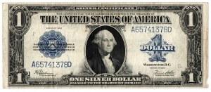USA, 1 dolar 1923, niebieska pieczęć