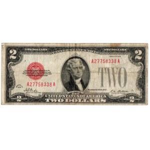 USA, 2 dolary 1928, czerwona pieczęć