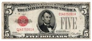 USA, 5 dolarów 1928