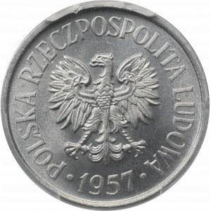 PRL, 20 groszy 1957 - PCGS MS67