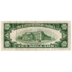 USA, 10 dolarów 1934, zielona pieczęć