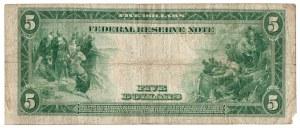 USA, 5 dolarów 1914 niebieska pieczęć