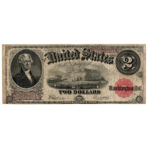 USA, 2 dolary 1917, czerwona pieczęć