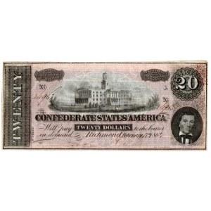 USA, 20 dolarów 1864 Confederate States of America