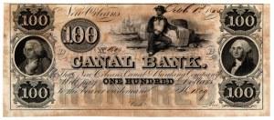 USA, 100 dolarów 1845 Canal Bank - Nowy Orlean