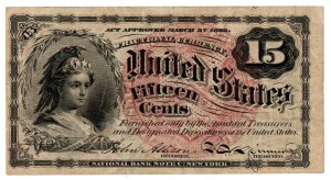 USA, 15 centów 1863 Fractional Currency
