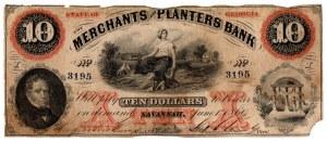USA, 10 dolarów 1860 Georgia - The Merchants and Planters Bank