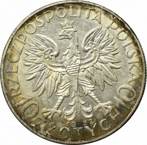 II Rzeczpospolita, 10 złotych 1932 ZZM Głowa kobiety