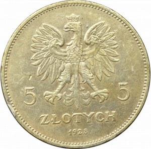 II Rzeczpospolita, 5 złotych 1928, Nike, BZM