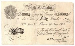 Wielka Brytania, 50 funtów 1934