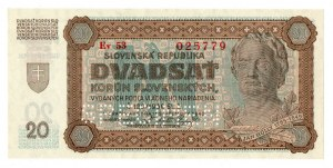 Słowacja, zestaw 20 i 50 koron 1939 - Specimen