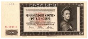 Słowacja, Zestaw 2 egzemplarze 500 koron 1929 i 1942 Specimen