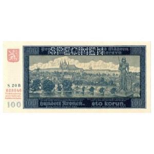 Protektorat Czech i Moraw, 100 koron 1940 Specimen