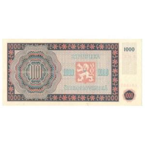 Chechosłowacja, 1000 koron 1945