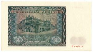 Generalne Gubernatorstwo, 50 złotych 1941 B