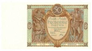 II Rzeczpospolita, 50 złotych 1929 DŁ