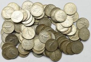 France, Lot of 1 franc 1898-1919 (101 ex)