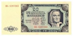 PRL, 20 złotych 1948 HG
