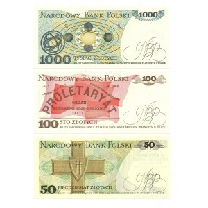 PRL, Zbiór banknotów z nadrukami