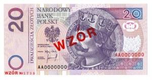 20 złotych 1994 WZÓR - AA 0000000 - Nr. 1799