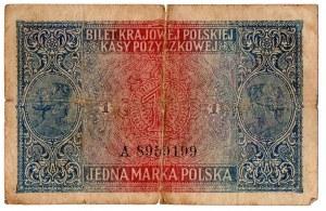 II Rzeczpospolita, Zestaw banknotów - 6 egzemplarzy (w tym 1 marka jenerał)