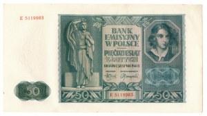 Generalne Gubernatorstwo, 50 złotych 1941 E